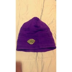 Never worn...purple trendy hat with tags still on